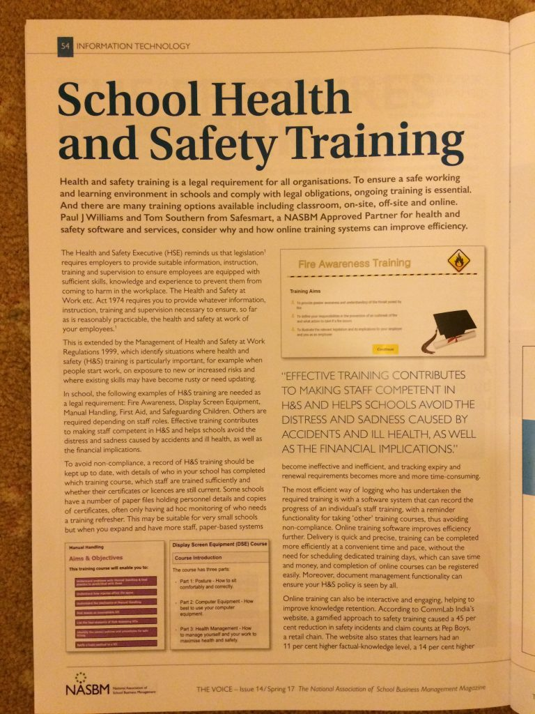 School Health and Safety Training - Safesmart