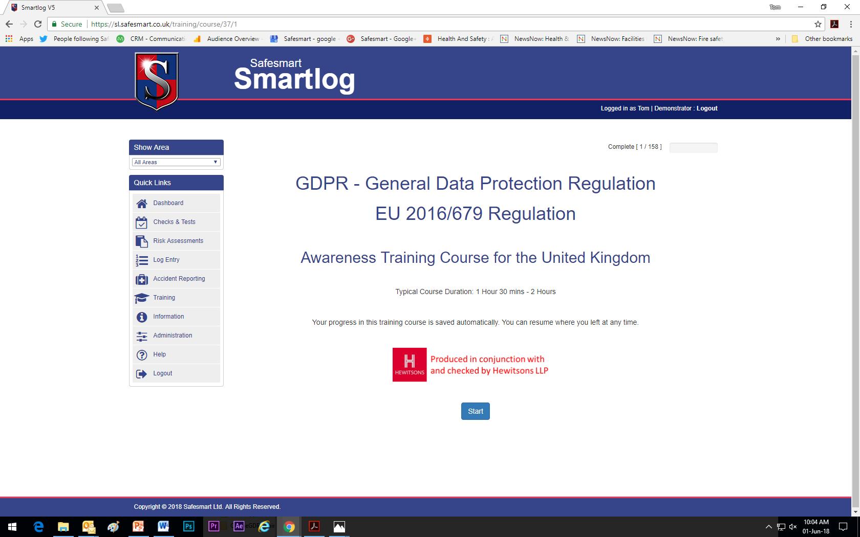Online GDPR Training - Safesmart